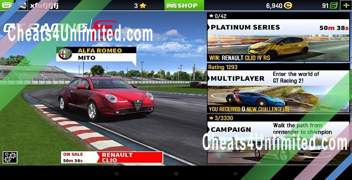 Gt Racing 2 Cheats