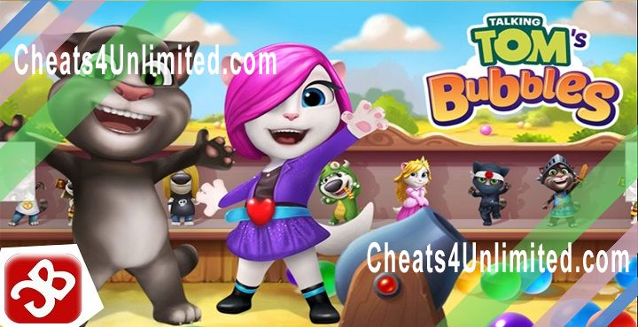 Talking Tom Bubble Shooter Hack